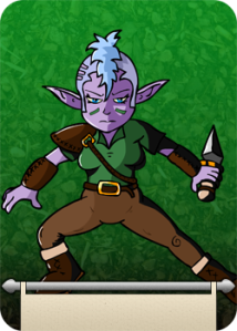 SANREIAL: Exiled from her elven clan,she fights to redeem herself.